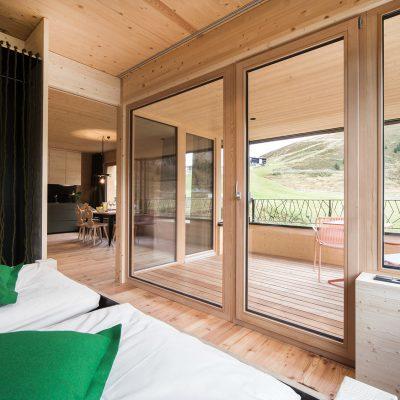 Terrasse von Ferienwohnung in Kühtai, Tirol - Appartements zu verkaufen