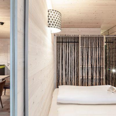 Schlafbereich in Ferienimmobilie Kühtai