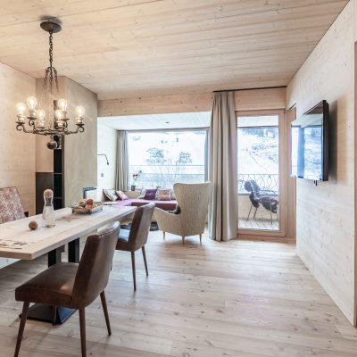 Jagschloss Resort Kühtai: Esstisch der Ferienwohnungen