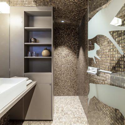 Jagschloss Resort Kühtai: Badezimmer der Ferienwohnungen