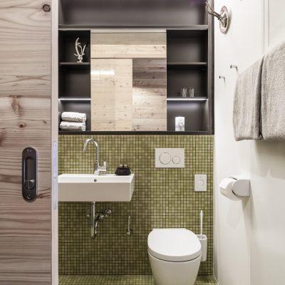 Badezimmer in Ferienappartement in Kühtai