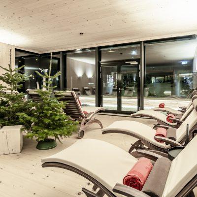 Wellnessbereich im Jagdschloss Resort Kühtai, Tirol